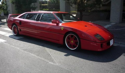 Overkill Ferrari F40 Stretched Limousine From Japan