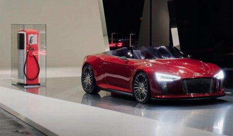 Red Audi E-tron Spyder at Design Miami