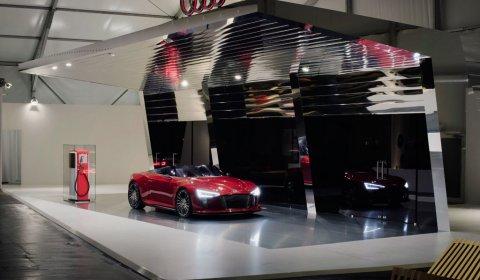 Red Audi E-tron Spyder at Design Miami 03