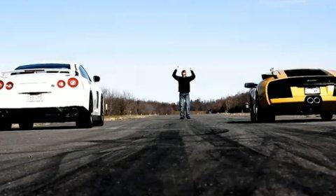 Video of the Day: Nissan R35 GT-R VS Lamborghini Murcielago