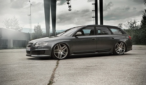 Overkill Audi RS6 With AMG Wheels