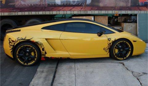 Lamborghini Gallardo Goes Tribal