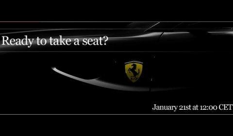 Online Preview Ferrari 612 Successor on January 21