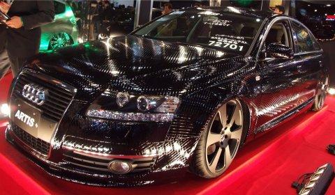 Overkill Artis Audi A6 Black Diamond-Shape Paint Job