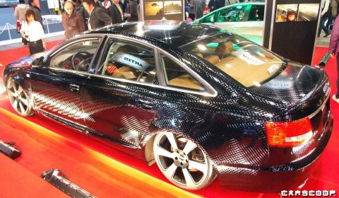 Overkill Artis Audi A6 Black Diamond-Shape Paint Job 01