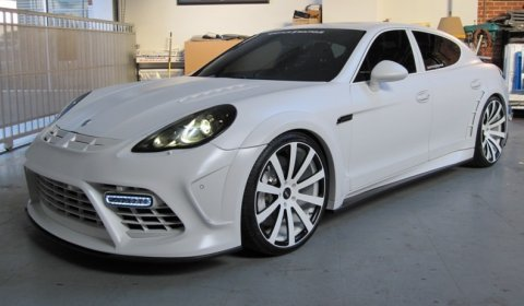 Customized Rims  on Custom Mansory Porsche Panamera Turbo With Huge White Wheels That We