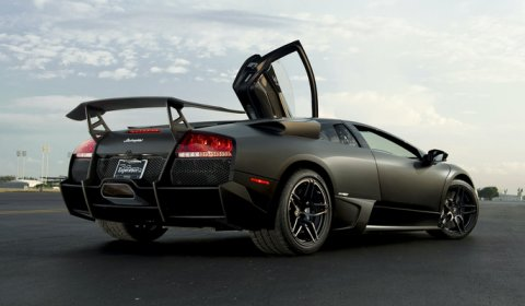 Photo Of The Day Matte Black LP670 SuperVeloce Private Airport Photoshoot