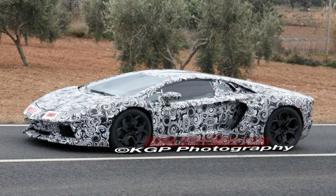 Spyshots 2012 Lamborghini Aventador LP700-4