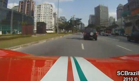 Video Ferrari 360 Stradale in Sao Paulo Brazil