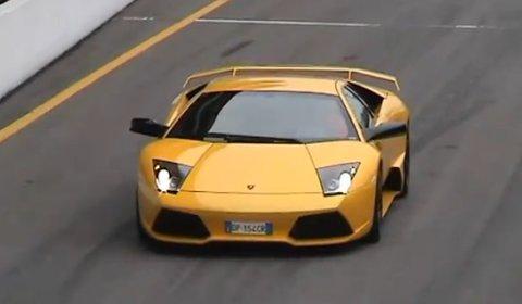 Video Lamborghini Murcielago LP640 at Monza, Italy