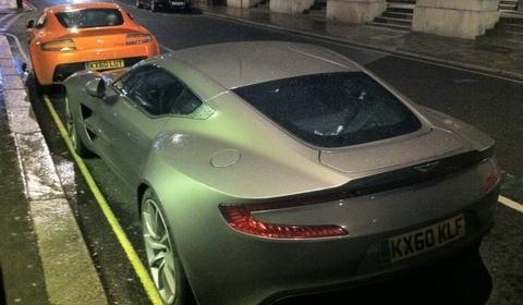 Aston Martin One-77 & V12 Vantage in London