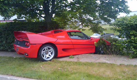 Ferrari F50 FBI Car Crash Lawsuit