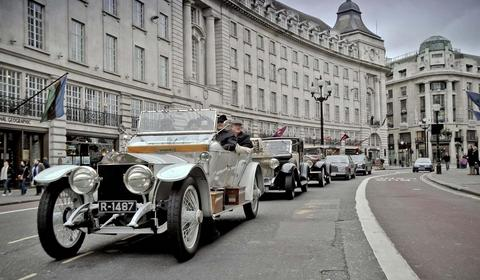 Rolls-Royce Spirit of Ecstacy Centenary Drive in London