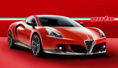 Rendering Alfa Romeo 4C Coupe