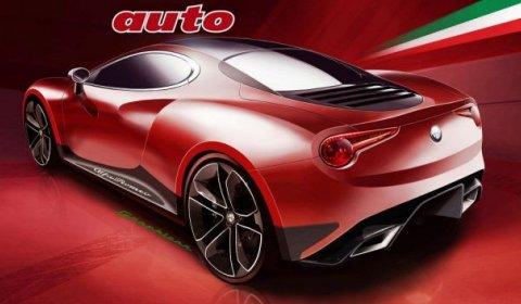 Rendering Alfa Romeo 4C Coupe 01
