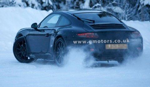 Spyshots 2012 Porsche 911 Winter Testing in Sweden
