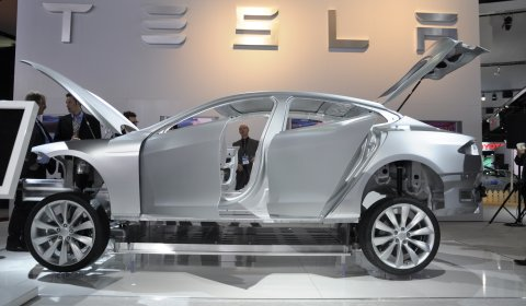 Tesla Model S Makes European Debut at Geneva 2011