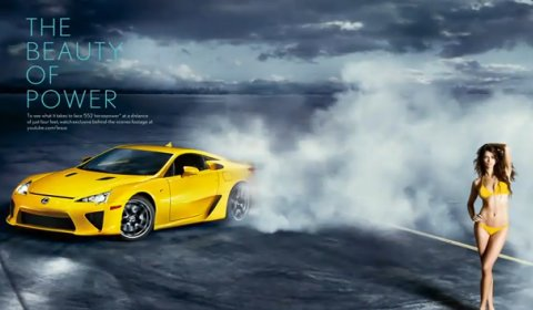 Video Lexus LFA Meets Dutch Supermodel