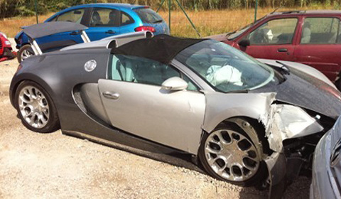 Bugatti Veyron Grand Sport Crash 1