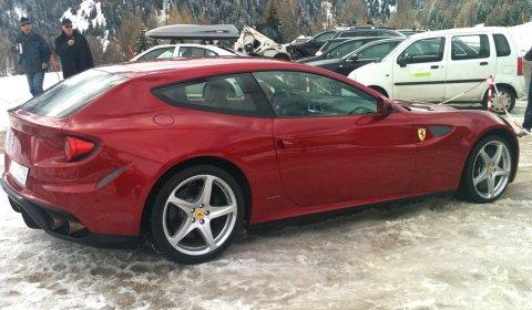 Ferrari FF Live Photos in The Mountains