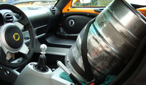 How To Transport Beer in a Sports Car!