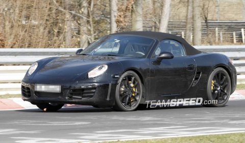 Spyshots 2012 Porsche Boxster at The Nurburgring