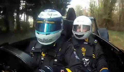 Video Caparo T1 Passenger Ride with Mika Hakkinen