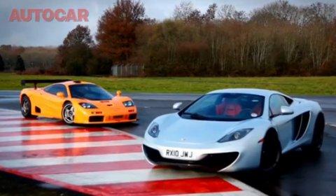 Video: McLaren F1 GTR VS McLaren MP4-12C