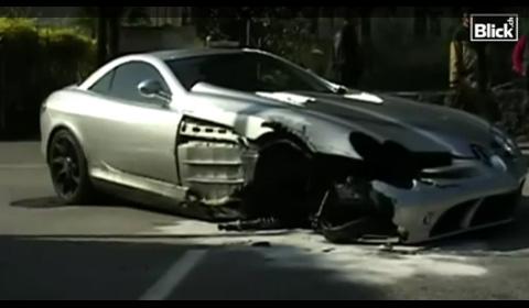 McLaren SLR Crash