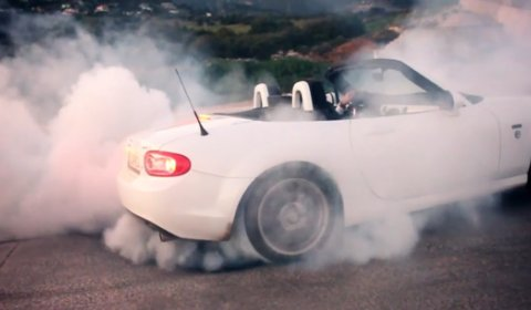 Video Cars Drifting Filmed From Helicam