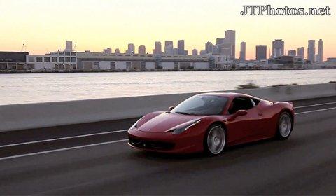 Video Ferrari 458 Italia in Sunset Light in Miami
