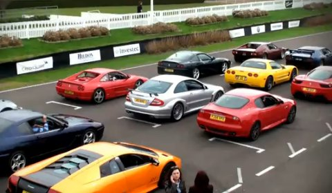 Video Supercar Line-up & Parade at Saywell International