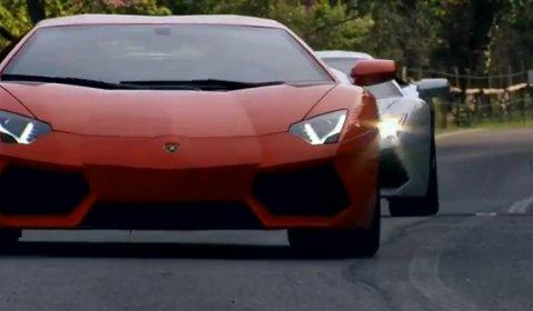Video Two Lamborghini Aventadors Chasing Each Other Near Rome