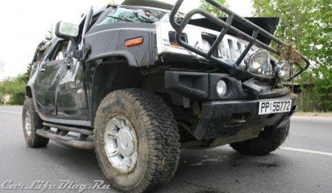 Car Crash Drunken Driver Crashes Hummer H2 in Lithuania