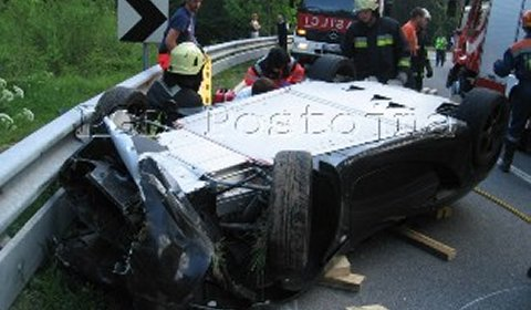 Car Crash Lotus Elise Crashed in Slovenia