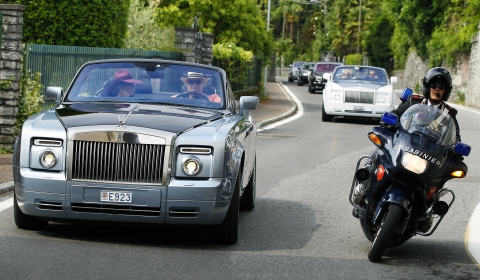 Exclusive Rolls-Royce Procession Near Lake Como
