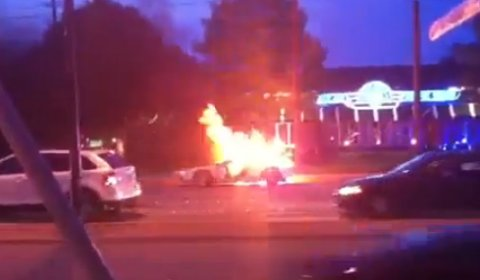 Ford GT Burst Into Flames in Texas