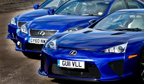 Photo Of The Day Lexus LFA and IS-F at Bruntingthorpe