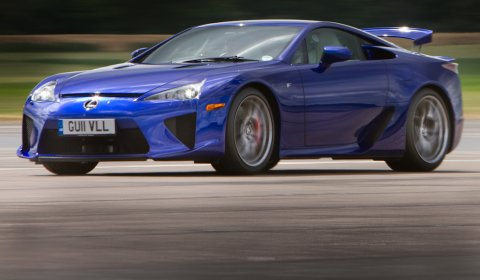 Photo Of The Day Lexus LFA and IS-F at Bruntingthorpe 02