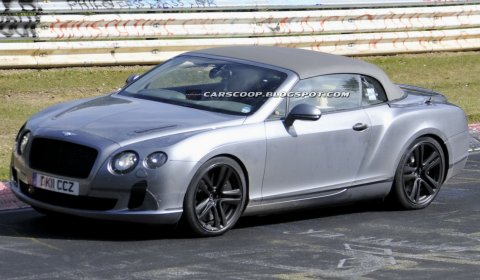 Spyshots 2012 Bentley Continental GTC Convertible Facelift at The Nurburgring