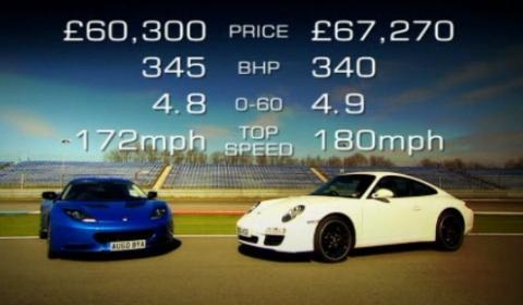 Video Fifth Gear Shootout Between Lotus Evora S and Porsche 911 Carrera