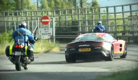 Video First Aston Martin One-77 Pulled Over at Gumball 3000