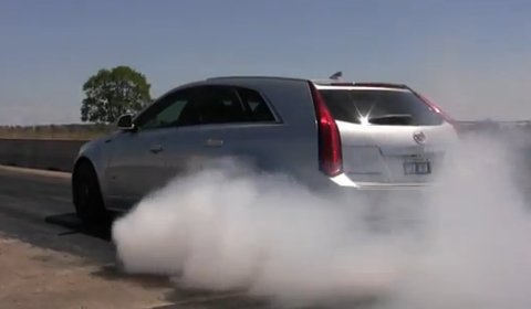 Video Hennessey's CTS-V Sport Wagon Doing Burnouts