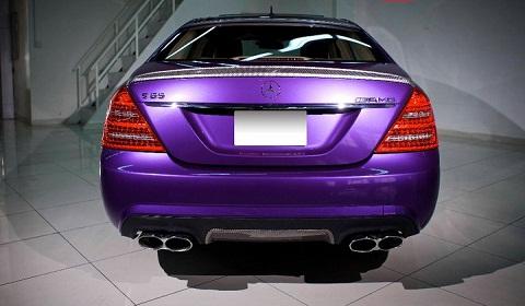 Purple Mercedes S-Class By FribraFoil