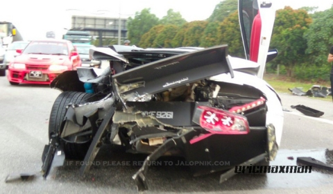 Car Crash: BMW M5 Crashes into Lamborghini Murcielago - GTspirit