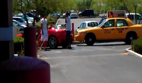 Car Crash Ferrari Driver Attacks Cab Driver in Las Vegas