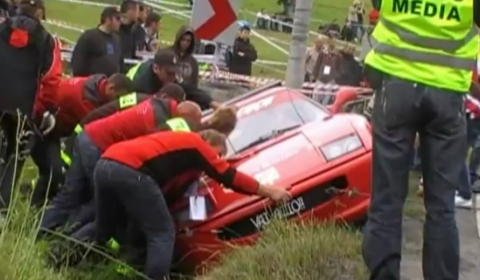 Car Crash Ferrari F355 Crash at GSMP Limanowa 2011