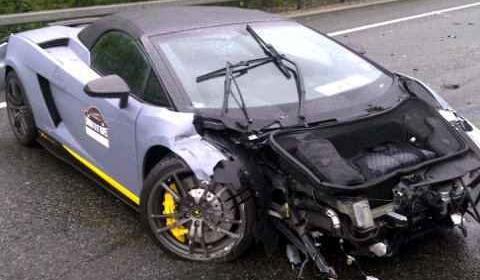 Car Crash Lamborghini LP570-4 Performante Crashed on Dodgeball Rally 2011