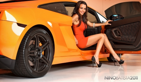 Lamborghini on Cars   Girls  Orange Lamborghini Gallardo And Roxanna Hernandez