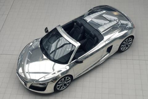 Chromed Audi R8 V10 Spyder for Charity 01